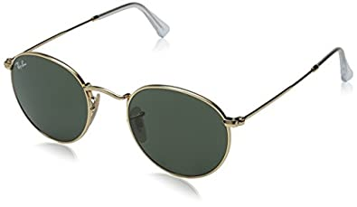 ray ban unisex round sunglasses  ray ban orb3447 round metal sunglasses, 47mm