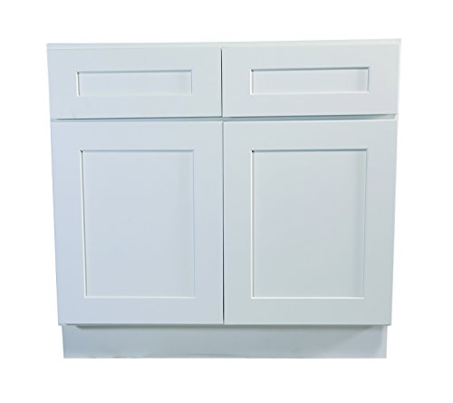 Design House 561423 Brookings 48-Inch Base Cabinet, White Shaker