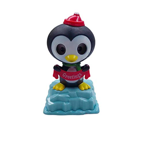 (Binory Solar Powered Penguin Dancing Swinging Animated Office Desk Window Dancer Toy,Car Windowsill Decoration New Selling Novelty Action Figures Toys Birthday Gift for Kids Adults(I) )