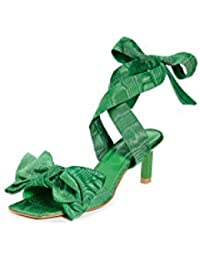 Women's Heeled Bow Sandals