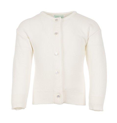 Julius Berger Girls Ivory Cotton - Cashmere Feel Cardigan