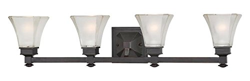 Biscayne Bronze 4 Light Bathroom Fixture from the Canterbury Collection ()