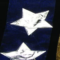 Silver Stars On Navy Blue Organza Craft Ribbon 2 X 10 Yards Amazon Co Uk Kitchen Home