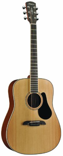 Alvarez Artist Series AD60 Dreadnought Guitar, Natural/Gloss Finish Alvarez Acoustic Guitar Picks