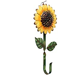 New Metal Sunflower Home Hook Great Home&Kitchen Keys,Coats,Utilities Hook Decor by GRACE HOME