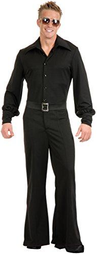 Adult Large 42-44 Black Disco Studio Jumpsuit (Studio Quality Halloween Costumes)