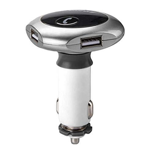 - Shentesel Wireless Handsfree Bluetooth FM Transmitter Modulator MP3 Player Charger Car Kit Silver