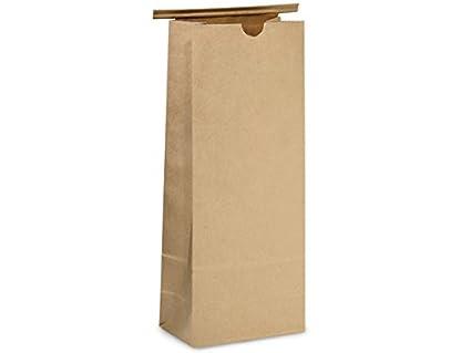 AQUAPAPA 50 Compostable Natural Kraft Tin Tie Bags (Small 8 oz)