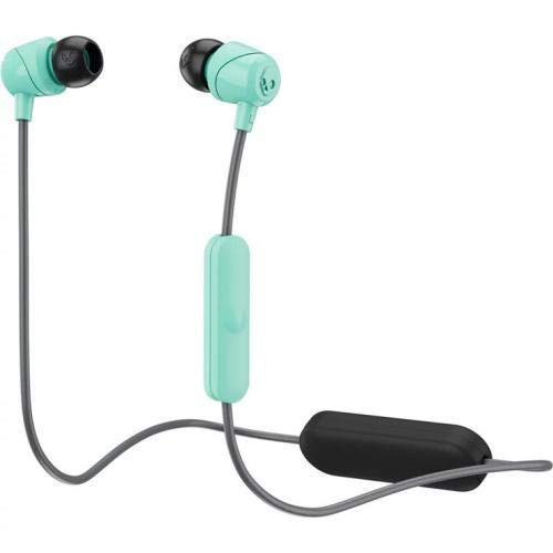 Skullcandy Jib Bluetooth Wireless in-Ear Earbuds with Microphone for Hands-Free Calls, 6-Hour Rechargeable Battery, Included Ear Gels for Noise Isolation, Gray/Miami ()