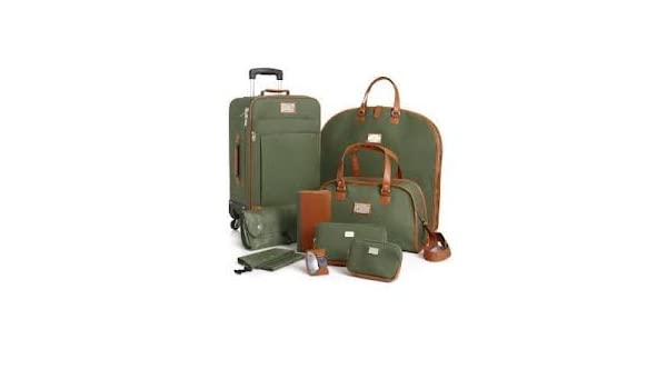 671fd71e4 Amazon.com: Joy Mangano St. Barts Canvas Chic Collection 10-piece Luggage  Set - OLIVE: Everything Else