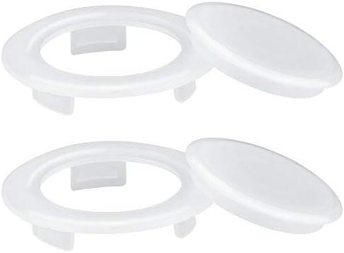 AFASOES – Set di 2 anelli per ombrellone da tavolo, 2 pollici, con 2 tappi per tavolo da terrazza, anello in plastica, per ombrello, tavolo da terrazzo, ombrellone (bianco 4,2 cm)