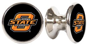 Oklahoma State Cowboys NCAA Stainless Steel Cabinet Knobs / Drawer Pulls ()