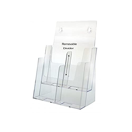 low cost marketing holders brochure holder two tier holds 4 x 9