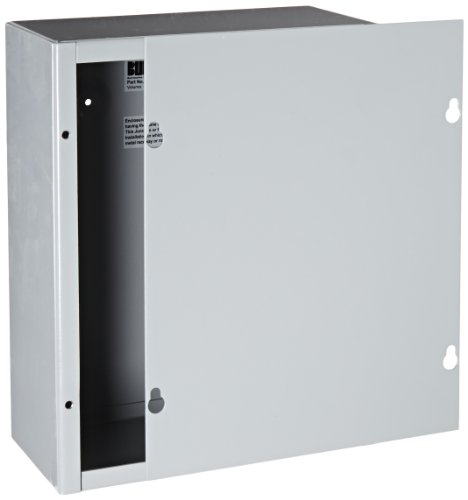 BUD Industries JB-3958 Steel NEMA 1 Sheet Metal Junction Box with Lift-off Screw Cover 8 Width x 10 Height x 4 Depth Gray Finish
