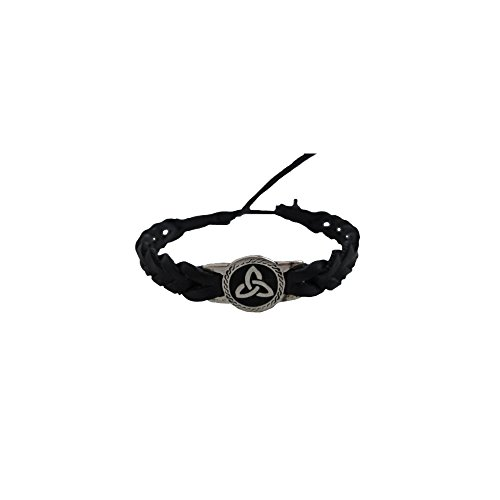 Celtic Friendship Bracelet Round Trinity Black Faux (Round Friendship Bracelets)