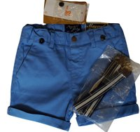 Mayoral Baby Shorts with Braces Blue or White Blue)