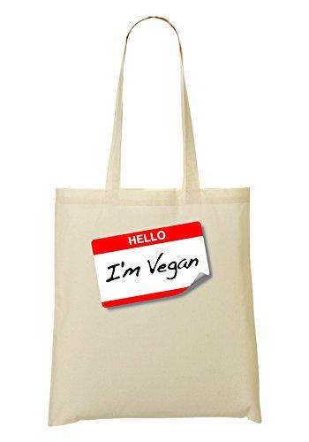 Bag Vegano Nome Io Borsa Sono Shopping Stampata WZHnSqp