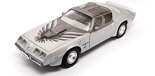 10th Anniversary Car - 1979 Pontiac Firebird Trans AM 10th Anniversary, Silver - Yatming 92378 - 1/18 scale diecast model car