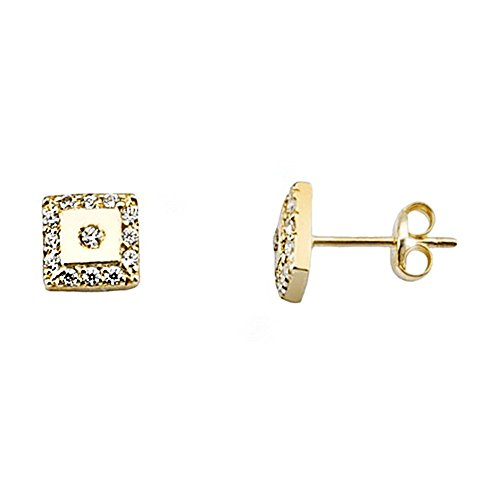 Boucled'oreille 18k zircons lisses or [AA5111]