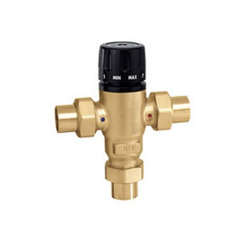 Caleffi 521609A Mixing Cal 3-Way Thermostatic Mixing Valve, Low-Lead Brass 1-Inch Sweat (Caleffi Mixing)