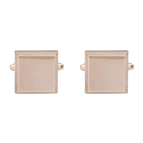 (TRIPIN Men's Silver Square Shaped Brass Cufflinks With Matt Finish In A Gift Box)