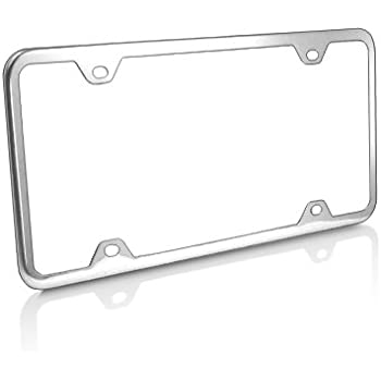 CHROME PLATED FINISH LICENSE PLATE FRAME PLAIN SOLID ABS COVER FOR CAR//TRUCK CAP