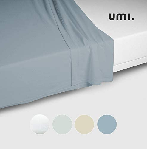 UMI. by Amazon - Sábana de satén de algodón 100%, Cama Doble, 300 ...
