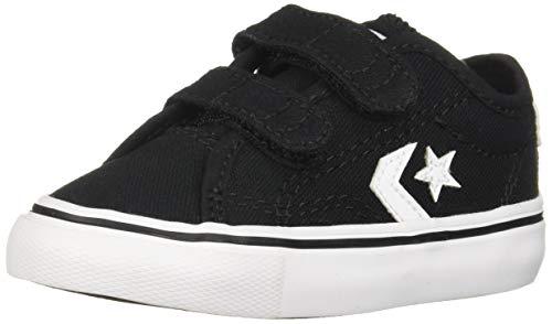 Converse Boys Infants' Star Replay 2V Low Top Sneaker, Black White, 3 M ()