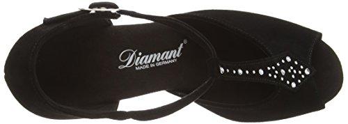 Diamant Damen Tanzschuhe 010-060-101 - Zapatos de Baile - Standard & Latino Para Mujer Negro (schwarz)
