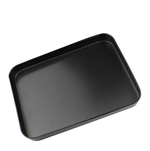 Baking Sheet Nonstick, Baking Tray and Cake Pan Stainless Steel Toaster Oven Tray Pan Rectangle Size 10 x 7 x 1 inch, Aluminum Small Cake Maker Cooking Pan, Easy Clean & Dishwasher Safe