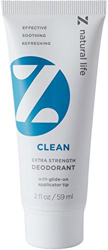 Z Natural Life Extra Strength Deodorant - Clean Scent - NEW! Stick Like Applicator Tip (Aluminum Free & Baking Soda Free)