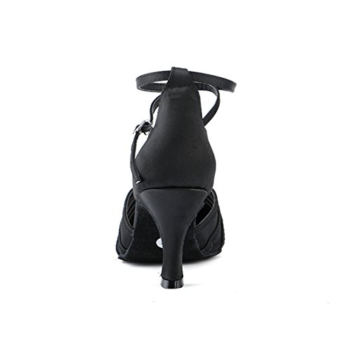 Miyoopark MiyooparkUK-HW180301 - Zapatillas de Danza Para Mujer Black-7.5cm Heel