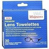 Walgreens Premium Lens Towelettes, 30 ea