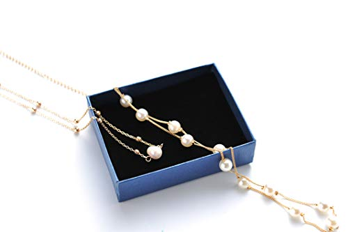 Joya Gift Freshwater Pearl Choker Necklace Gold Chain Necklace Women Lucky Wedding Jewelry