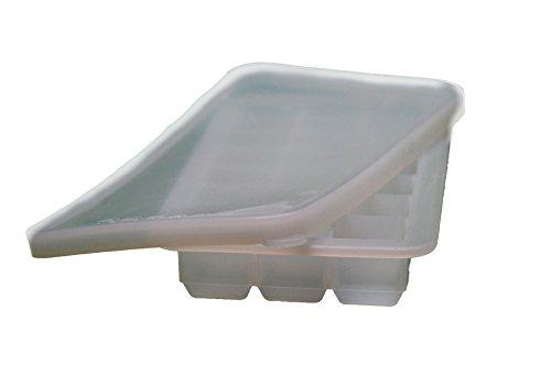 21 Eiswürfelform aus Silikon mit verschliessbarem Deckel WEIß