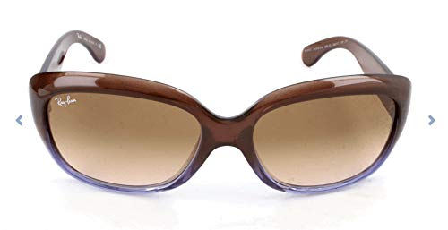 Ray-Ban Women's RB4101 Jackie Ohh Sunglasses, Brown Gradient Lilac/Brown Gradient, 58 mm (Ray Ban Aviator Ii)