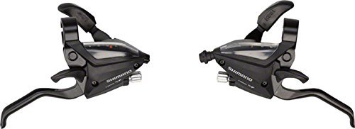 Shimano ST-EF51 Rapid Fire 3 x 7 Speed Black Bicycle Shifter Set W/ all Cables by Shimano