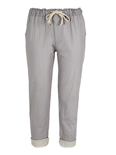SOLADA lino leggeri Beige misto in cotone Pantaloni grwSqOg