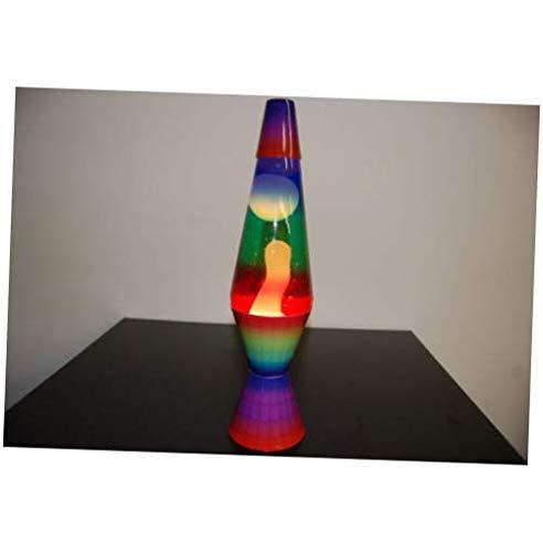 Bulb 20oz Color Max Rainbow Lava Brand Motion Lamp Clear Liquid w/White Lava