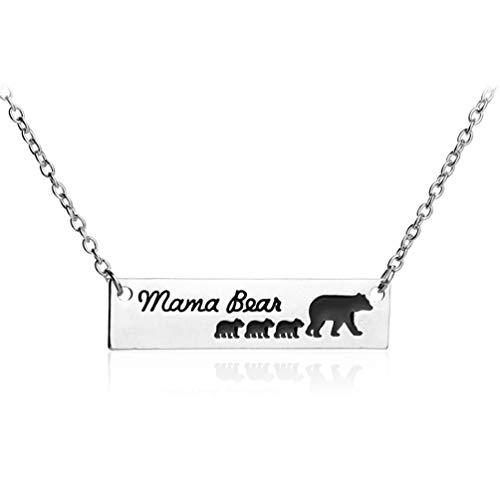 ear 3 Cubs Child Strand Bar Necklace/Women Mother Mom Family Thanksgiving Christmas ()