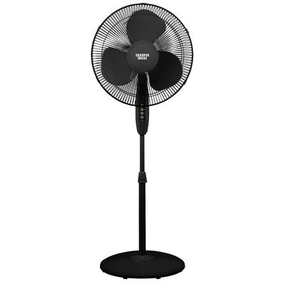 16in Oscillating Pedestal Fan Color: Black