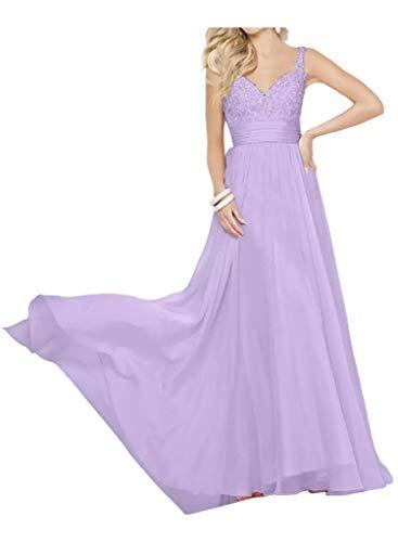 La A Braut Spitze Marie 2016 Bodenlang Elegant Linie Lilac Ballkleider Chiffon Abendkleider Traeger Promkleider r4rqpvwT