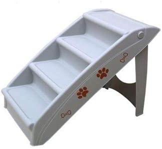 WTTTTW Escaleras Plegables de plástico para Mascotas, pequeñas Caminatas para Mascotas, báscula portátil para Mascotas de vehículos de Camiones, rampas de riel para pies,Beige: Amazon.es: Deportes y aire libre