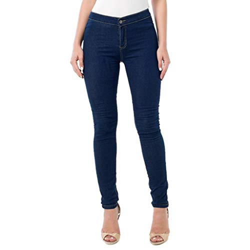 Kekebest Women High Waist Stretch Jeans Leggings Skinny Slim Fitness Pants Trousers 2019 Newest Popular Autumn Winter Sale Diacount Large Size Denim Trousers Long Enough True to Size