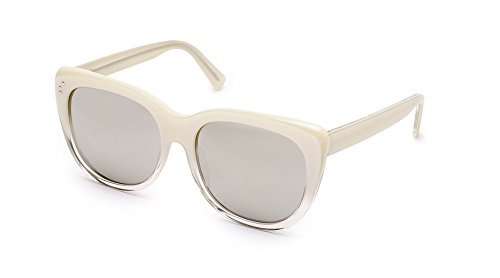 SHAUNS California Esk Oversized Sunglasses Snow to Crystal/Super Silver Mirror Lens - Sunglasses Shaun White