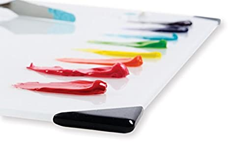 White New Wave POSH Glass Artist Palette 12x16 Multiple Colors + Sizes Available