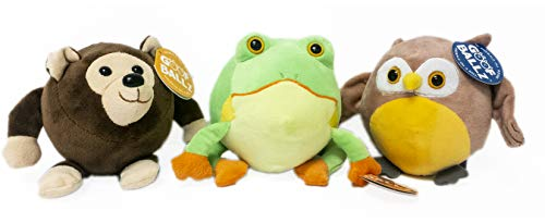 Goofballz Plush Stuffed Animals Forest 3-Pack of Otis the Owl, Finn the Tree Frog, Bailee the Bear| Stuffed Animals Perfect for Boys and Girls All Ages | Adorable, Soft Kids Stuffed Animals | 6 inches ()