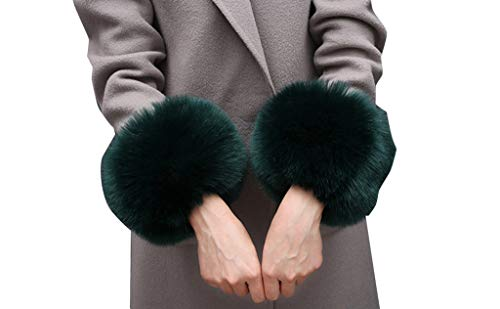 (Ci-ONE Faux Fur Wrist Cuffs Leg Cuff Warmer Winter Short Wrist Cuff)