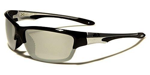 X-Loop Sportbrille Unisex Damen Herren Sport Sonnenbrille Kunststoff in verschiedenen Farben mit Brillenbeutel xMHPOtKo37