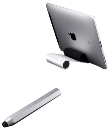 Just Mobile Designer iPad Stylus and iPad Stand Bundle Pack (ST-828+ AP818) by Just Mobile